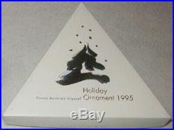 1995 Swarovski Crystal Christmas Ornament Star Mint In Box Austrian