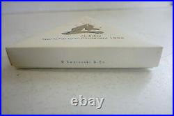 1995 Swarovski Crystal Christmas Ornament With Box & Papers VERY NICE