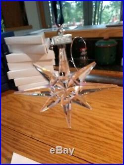 1995 Swarovski Crystal Christmas Star/Snowflake Ornament EUC with box
