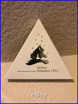 1995 Swarovski Holiday Ornament Crystal Christmas Star Snowflake Box Le