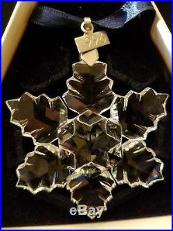 1996 Swarovski Crystal Annual Limited Edition Christmas Ornament Star/Snowflake