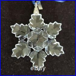 1996 Swarovski Crystal Annual Snowflake Holiday Christmas Ornament
