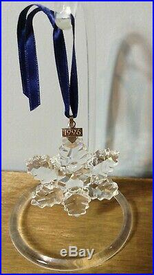 1996 Swarovski Crystal Christmas Ornament Mint In Box Lob
