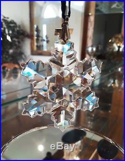 1996 Swarovski Crystal Christmas Ornament Snowflake #199734