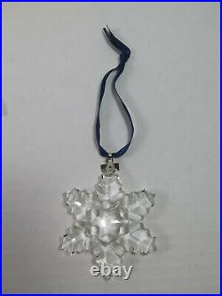 1996 Swarovski Crystal Christmas Ornament With Box and COA Excellent Condition