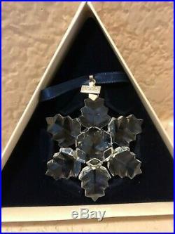 1996 Swarovski Holiday Ornament Crystal Christmas Snowflake Box Le
