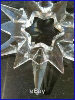 1997 Limited Edition Swarovski Crystal Snowflake Christmas Tree Ornament No Box