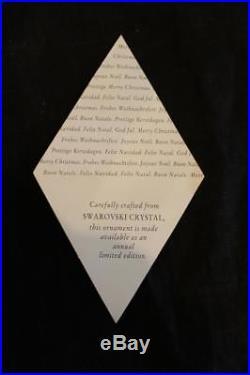 1997 Swarovski Crystal Annual Snowflake Star Christmas Holiday Ornament with Box