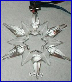 1997 Swarovski Crystal Christmas Ornament Star Mint In Box Austrian