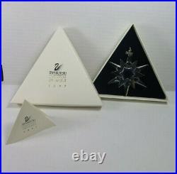 1997 Swarovski Crystal Christmas Ornament With Box and COA (2) Tiny Chips