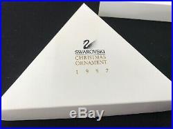 1997 Swarovski Crystal Snowflake Christmas Tree Holiday Ornament With Box