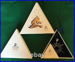 1997 Swarovski Crystal Star Snowflake Holiday Christmas Ornament Box Paper