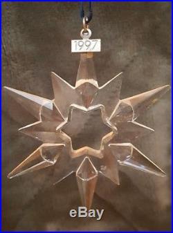 1997 Swarovski Cut Crystal Snowflake Christmas Ornament Excellent No Box