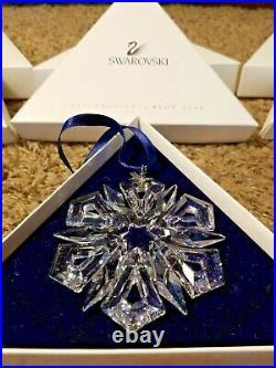 1998 1999 2000 2001 Swarovski Crystal Christmas Ornament Set of 4 Original Box