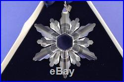 1998 Swarovski Crystal Annual Snowflake Christmas Ornament With Box