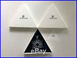 1998 Swarovski Crystal Christmas Ornament Mint In Box