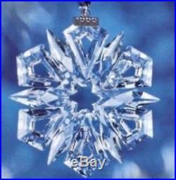 1999 MIB Swarovski Crystal Annual Christmas Ornament STAR / SNOWFLAKE New
