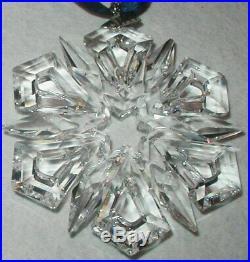 1999 Swarovski Crystal Christmas Ornament Star Mint In Box Austrian