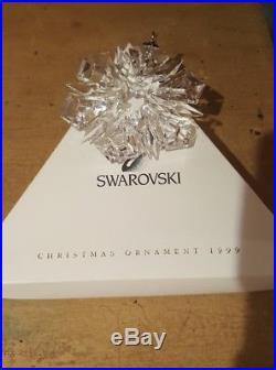 1999 Swarovski Crystal Ltd Annual Edition Snowflake Christmas Holiday Ornament