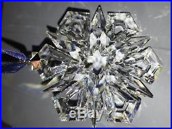 1999 Swarovski Crystal Snowflake Annual Christmas Tree Ornament withBoxes and COA