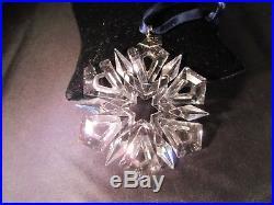 1999 Swarovski Crystal Snowflake Ornament Christmas Star Mint No Box or COA