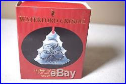 1999 Waterford Crystal 5 Golden Rings Christmas Ornament Signed by Jim O'Leary