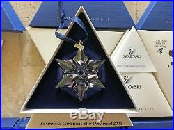 2000 Swarovski Crystal Christmas Tree Star Ornament Collectible COA & Box Mint