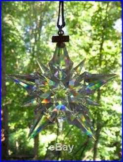 2001 Ltd Ed Swarovski Crystal Snowflake Star Christmas Tree Ornament Mint in Box