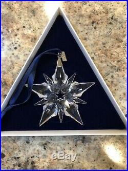 2001 Swarovski Crystal Annual Christmas Ornament Star Snowflake