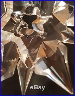 2001 Swarovski Crystal Annual Limited Edition Christmas Ornament Star/Snowflake
