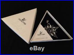 2001 Swarovski Crystal Annual Snowflake Star Christmas Ornament With Box