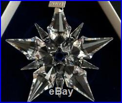 2001 Swarovski Crystal Christmas Ornament New in Box with Certificate