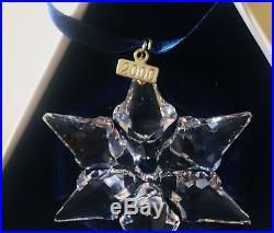 2001 Swarovski Crystal Christmas Ornament Star Snowflake Box Ornament