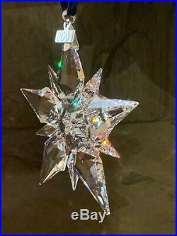 2001 Swarovski Crystal Christmas Tree Star Ornament Collectible COA & Box Mint
