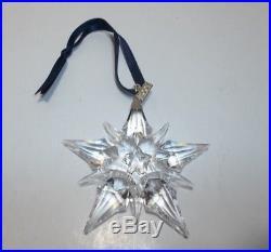 2001 Swarovski Crystal SNOWFLAKE Star Christmas Ornament