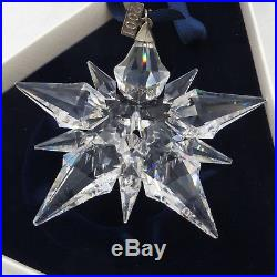 2001 Swarovski Crystal Snowflake Christmas Ornament with Both Boxes