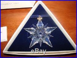 2001 Swarovski Crystal Snowflake Christmas Ornament with Box, COA VERY NICE