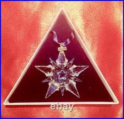 2001 Swarovski Crystal Star Ornament Mint In Box