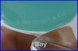 2001 Tiffany & Co. Clear Crystal Santa Claus Boxed Christmas Ornament Signed