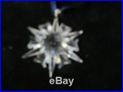 2002 Genuine Swarovski Crystal Snowflake Christmas Ornament R24 Pa