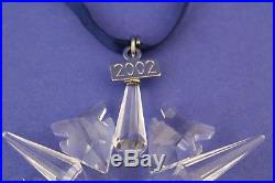 2002 Swarovski Crystal Annual Snowflake Christmas Ornament No Box