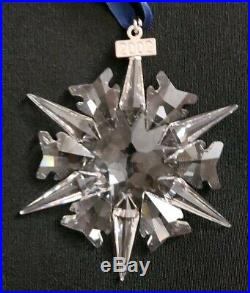 2002 Swarovski Crystal Christmas Ornament Brand New in Box with Certificates