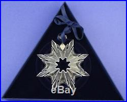 2003 Swarovski Crystal Annual Snowflake Christmas Ornament With Box