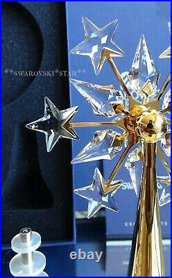 2004 2005 Mib Swarovski Crystal Christmas Tree Topper Gold #632785