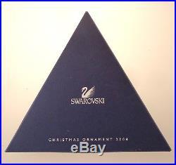 2004 Annual Swarovski Crystal Snowflake Star Christmas Ornament withOriginal Boxes