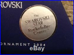 2004 NEW Swarovski Crystal (Rockefeller) Christmas Ornament with certificate