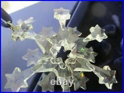 2004 Swarovski Crystal Christmas Ornament Snowflake MIB (SHR)