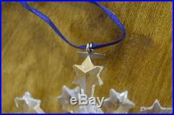 2004 Swarovski Crystal Snowflake Annual Christmas Ornament With Box