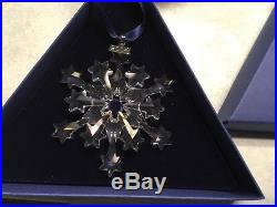 2004 Swarovski Crystal Snowflake Christmas Holiday Ornament with boxes and COA