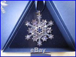 2004 Swarovski Crystal Snowflake Christmas Ornament with Boxes Excellent